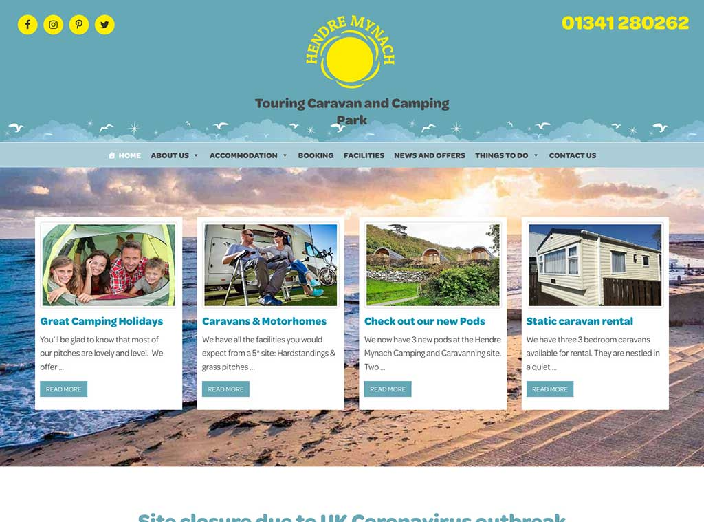 Hendre Mynach Camping and Caravanning Park, Barmouth
