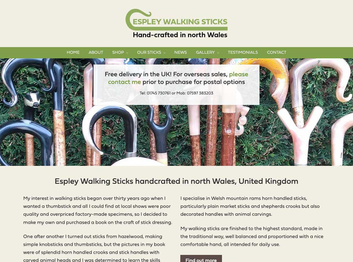 Espley Walking Sticks, north Wales